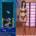 Porn Games - Misty Strip Tetris - Click to Play for Free